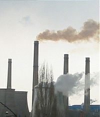 Air pollution - Air pollution created by the factories...by the emission of smoke...