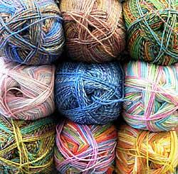 self-striping sock yarn - Yay for yarn!