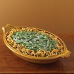 green bean casserole - green beans, cream of mushroom, fried onions