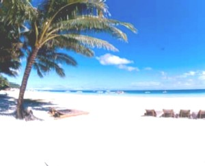 White Sand - Beach in Boracay Island where the sand is white, a very beautiful location.