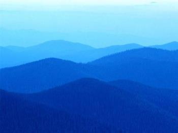 hills - hills have bule colour
