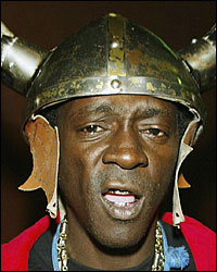 No, I do not play his music on my radio station!!! - Flava Flav.  Lock up your daughters and call the law!