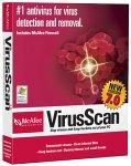 mcafee - picture of mcafee virus scan software case
