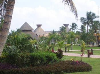 a picture from our hotel porch - this is part of our hotel scenary in Riveria Maya