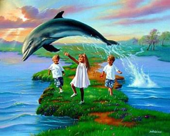 dolphin - An intelligent animal and harmless.