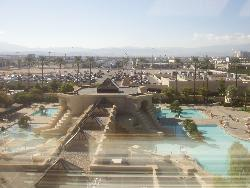 Pool outside the Luxor in Vegas - This was a view out of our room at the Luxor in Vegas!