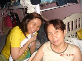 me and my mom - i love my mom so much.  She's always their for me.