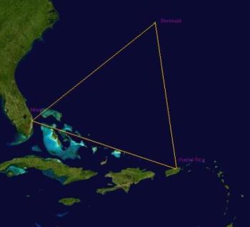 bermuda triangle - dis is the place where  the bermuda triangle lies!!