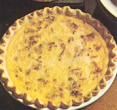 quiche - quiche can have several additional ingredients besides eggs.