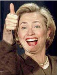 Thumbs up to women - Hillary