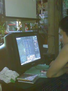 """addicted to internet - my brother playing his favorite online game """"RF online"""" to which he is addicted"""