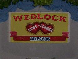 Wed luck - A wed luck banner on my wedding :)