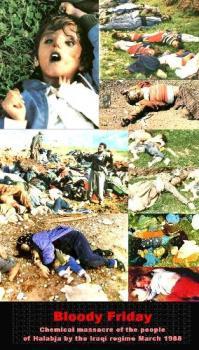 Warning graphic content! - Collage of chemical weapon attach on Halabja
