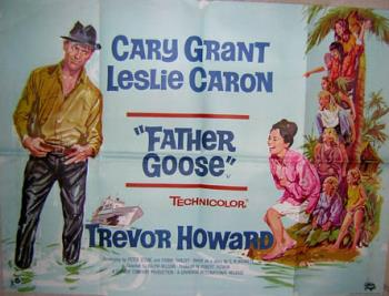 Father Goose - Poster for the movie Father Goose with Leslie Caron and Cary Grant