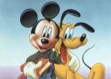 cartoon, mickey and pluto - cartoon