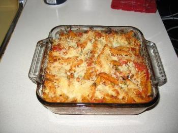 One of my Italian dishes..Baked Penne  - One of my Italian dishes..Baked Penne