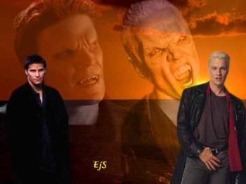 Angel and Spike - Wallpaper of Angel and Spike from Buffy the Vampire Slayer and Angel