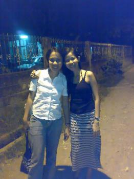 me with my long skirt - taken with my friend. i am the one wearing the long skirt. one of my favorite skirts