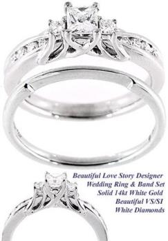 Engagement ring - This is a photo of my engagement ring.  It was bought from the company I worked for - which is why you see the specs to the side of it.