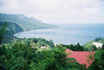 The Atlantic coast of Dominica - the southern part of the island