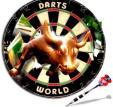 Darts - Bully Dart Board with bull coming out of bullseye area.