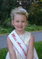 Miss America Rose Queen Emilee Alison (3 yrs.old) - American Rose Club of California web site iof them are www.americanrose.com is the world largest Rose Club and they celebrate many events say Miss Rose Queen, World Rose Queen and give prizes to winner. Miss Emilee Alison a 3 years old baby was Miss Rose Queen last year and this is her photo.