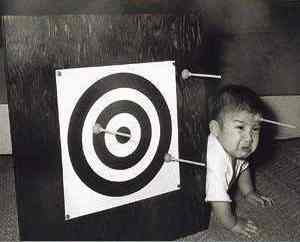Target practice - Grrr... I'll get you for this!!  *grumbles*