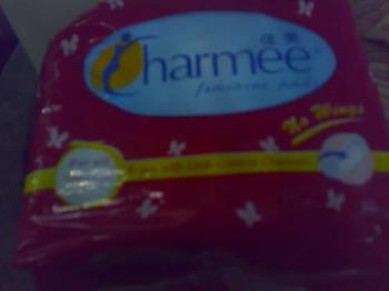 sanitary napkin - charmee- the brand i use as my sanitary napkin
