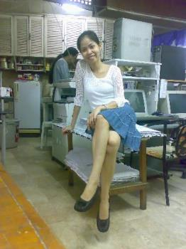 the way i look - me in a knee length skirt, a blouse and ballet flats