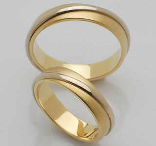 wedding rings - wedding rings made of white and yellow gold