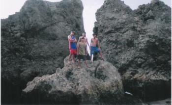 my inlaws with their friends - on mindoro, puerto gallera