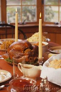 Thanksgiving Dinner - festive holiday dinner, Thanksgiving dinner, Turkey