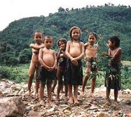 Child Abuse - These children barely have clothes to cover their body and they are further deprived from the basic medical facilities.