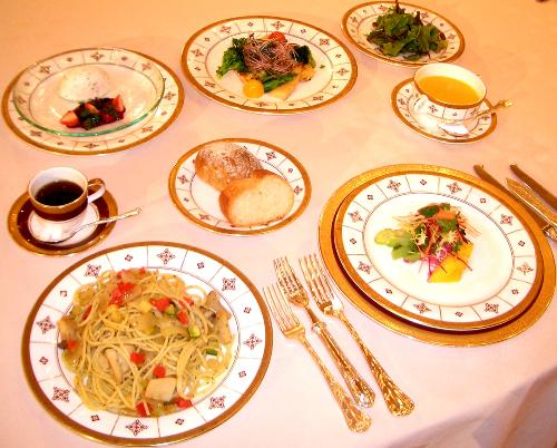 Dinner........ - Here is dinner served at a table.