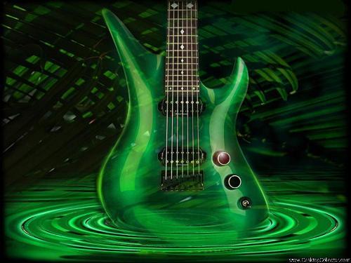 guitar - green guitar