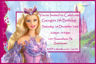 Barbie Fairytopia Mermaidia - This is a sample invitation. Though, I want to customize it with the picture of my baby.