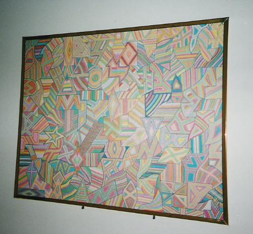 Ken's Art - Here is one of my pieces of arwork.  It is geometric/abstract art that I used with markers.  This is one of my hobbies.