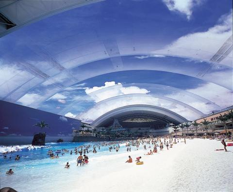 Japan's man made beach - An awesome man made masterpiece. Good for summer!