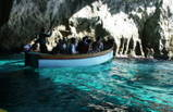 Boat in Blue Grotto - boat in one of the caves in the Blue Grotto