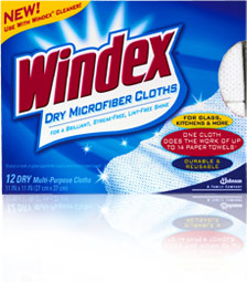 Windex Cloths - cleaning your home the easy way