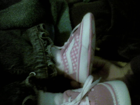 My daughter's first shoes - I love these Vans.  I had to buy them for her.