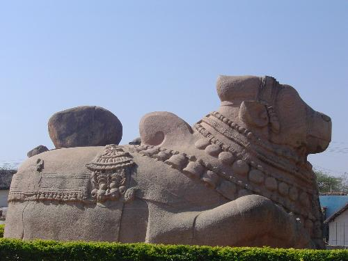 Bull(Nandi) Statue @ Lepakshi - The bull's statue is Asia's biggest bull's statue and located at Lepakshi, AP, India.  There is huge Shiva(Veerabhadra temple there...)