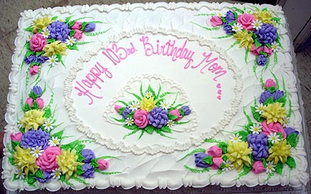 Sheet Cake Decorated With Flowers : decorated full sheet cake - decorated cake, flowers / myLot