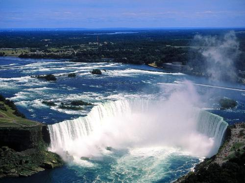 Aerial View of Niagara Falls, Ontario, Canada -  - Destination - Aerial View of Niagara Falls, Ontario, Canada - ............ Best locations from around the world ... Truly an adventurer's paradise...High Resolution Photography