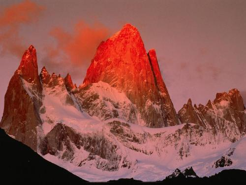 Crimson Light, Patagonia, Argentina - 1600x1200  - Destination - Crimson Light, Patagonia, Argentina - 1600x1200 ............ Best locations from around the world ... Truly an adventurer's paradise...High Resolution Photography