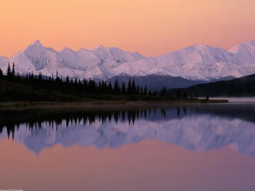 Denali Sunrise over Wonder Lake, Alaska - 1600x1 - Destination - Denali Sunrise over Wonder Lake, Alaska - 1600x1............ Best locations from around the world ... Truly an adventurer's paradise...High Resolution Photography
