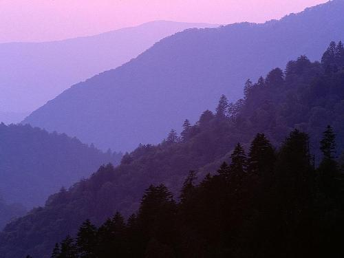 Dusk From Morton's Overlook, Great Smoky Mountai - Destination - Dusk From Morton's Overlook, Great Smoky Mountai............ Best locations from around the world ... Truly an adventurer's paradise...High Resolution Photography