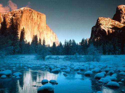 El Capitan as seen from the Merced River, Yosemi - Destination - El Capitan as seen from the Merced River, Yosemi............ Best locations from around the world ... Truly an adventurer's paradise...High Resolution Photography