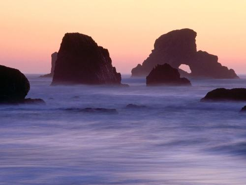 Evening Falls over Sea Stacks, Ecola State Park, - Destination - Evening Falls over Sea Stacks, Ecola State Park,............ Best locations from around the world ... Truly an adventurer's paradise...High Resolution Photography
