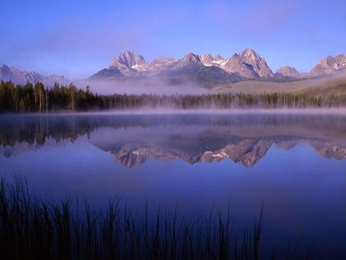 Morning at Little Redfish Lake, Idaho - 1600x120 - Destination - Morning at Little Redfish Lake, Idaho - 1600x120............ Best locations from around the world ... Truly an adventurer's paradise...High Resolution Photography